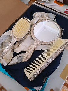 Silver brush, comb and mirror set Westmead Parramatta Area Preview