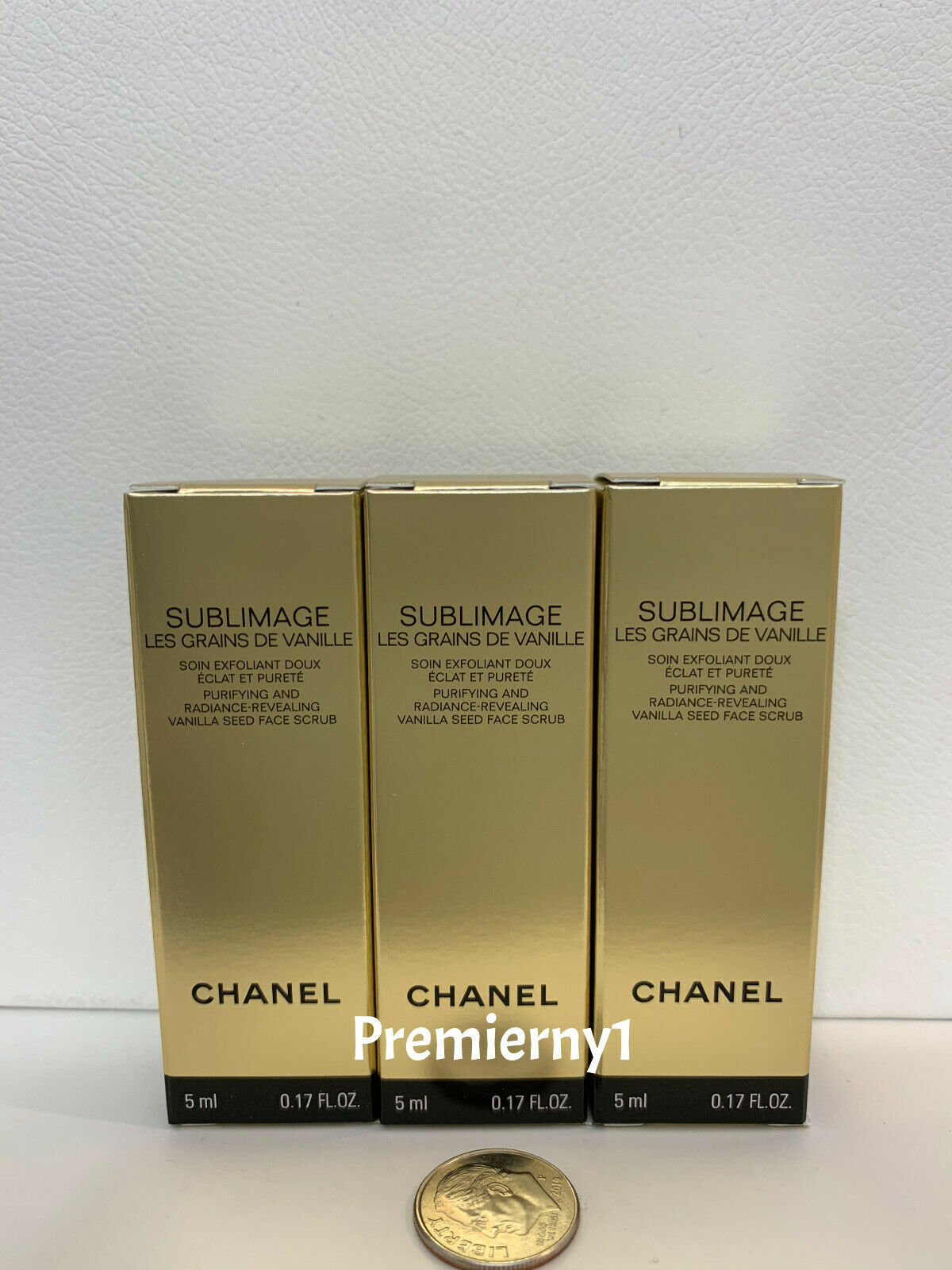 3 Chanel Sublimage Les Grains de Vanille Vanilla Seed Face Scrub 5ml each