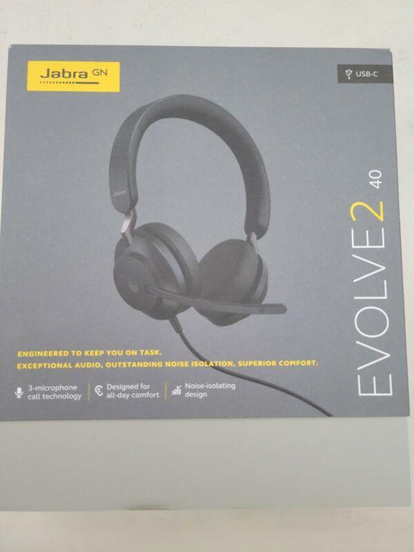 Jabra Evolve2 40 MS Stereo Headset Head Band - Black - USB-C