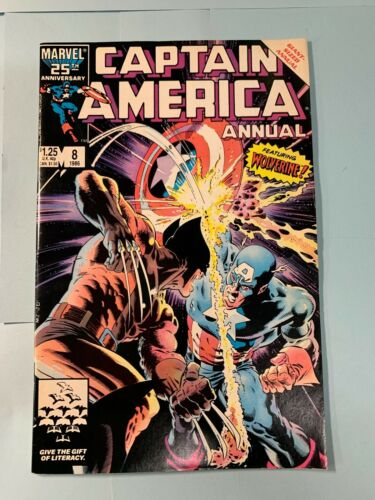 Captain America Annual #8 1986 Marvel Wolverine Cover 1st app TESS-One