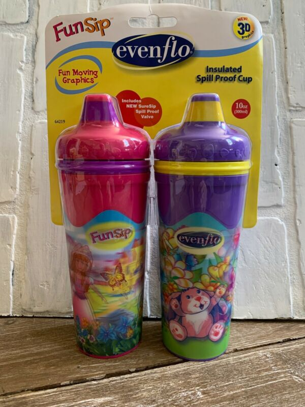 Evenflo 2pk Insulated Spill Proof Sippy Cup 10oz