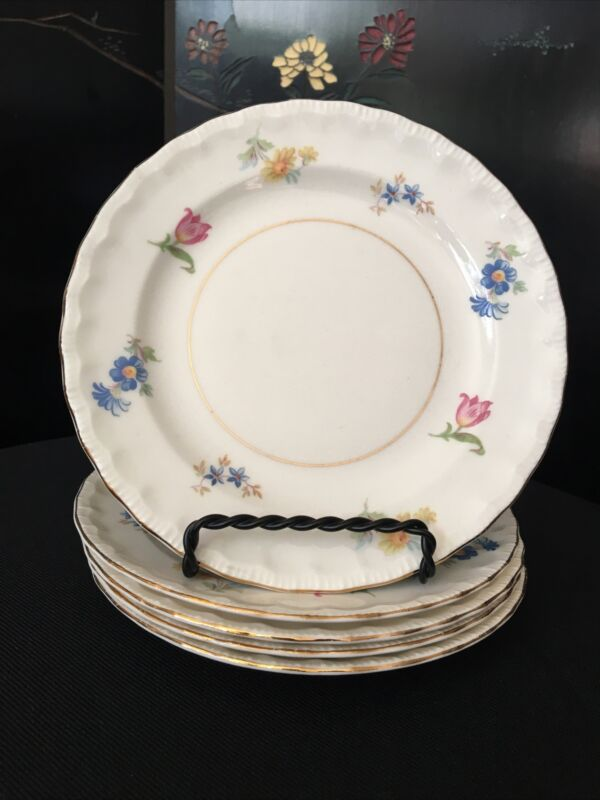 5 Vintage Pope Gosser Pinafore Bread & Butter Plates