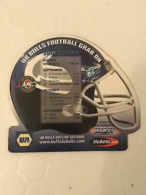 University At Buffalo Bulls 2001 NCAA Football Season Magnet Schedule WGR 550