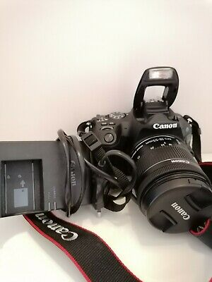 Canon EOS 200D Fotocamera Digitale Reflex, 24.2 MPx, con Obiettivo EF-S 18-55mm