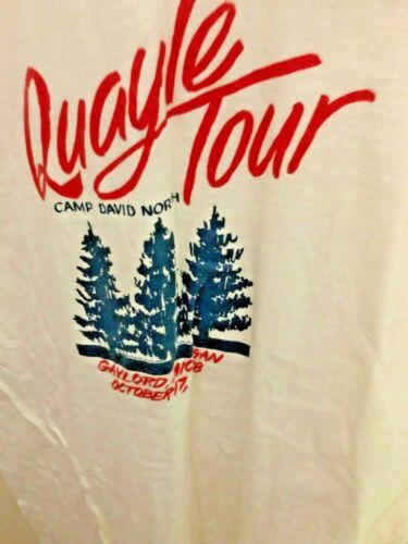"""1988 Quayle """"Camp David North"""" Tour T-Shirt Collectible!"""