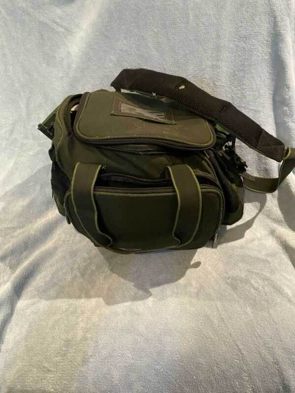 Under Seat Green Fishing Bag Used Condition