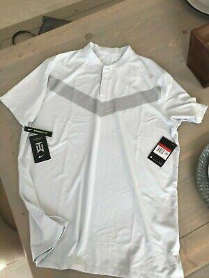 Nike Golf AEROREACT Vapor Tiger Woods Polo Platinum TW $85 BV0501 043 Medium