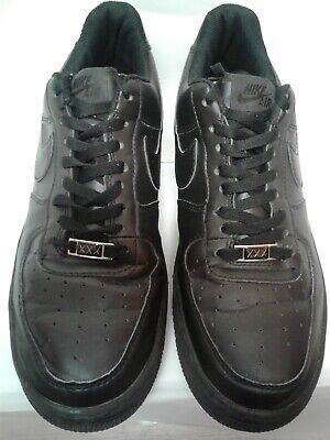 newest 64e98 d3435 Nike Air Force 1 30th Anniversary XXX 573979-200 Size 13 Black on Black