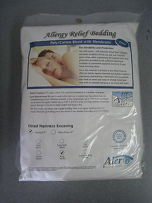 NEW Allergy Relief Bedding Resistant Mattress Encasing Poly/Cotton Blend - -