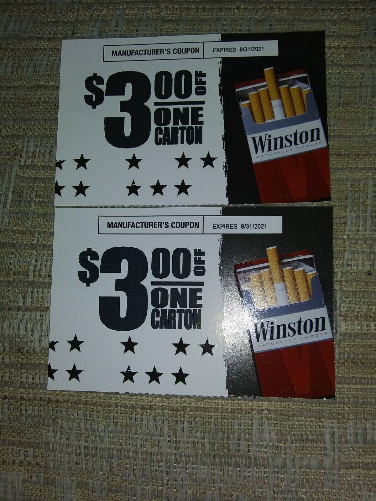 2 WINSTON, 2 3.00 OFF A CARTON OF ANY STYLE WINSTON, EXPIRES 11/30/2021 - $2.40