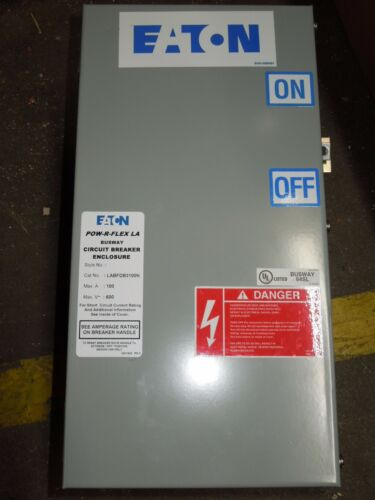 Eaton Labfdb3100n Pow-r-flex La Busplug 100a 3ph 4w 600v Circuit Breaker Surplus