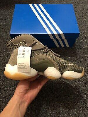 NWT Men Size 8 Adidas Crazy BYW Basketball Sneakers Steel/Raw Khaki/Gum BD8004