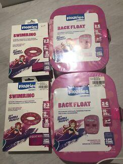 Kids swim ring & back float x 2 sets