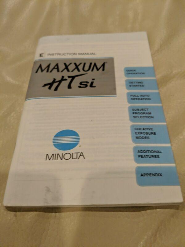 Minolta Maxxum HTsi Instruction Manual English