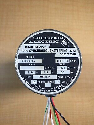 Superior Electric Slo-syn Stepping Motor 3.36v 2.9a 200spr M063-fd06 Bm101025 L5