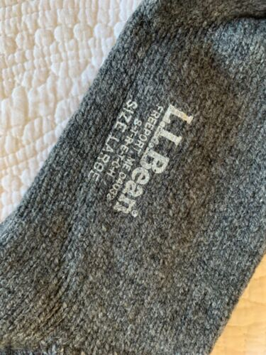 LL Bean Wool Stretch Socks grey Unisex Men Women USA Large new