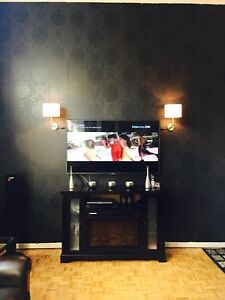 tv unit with fireplace and dressing