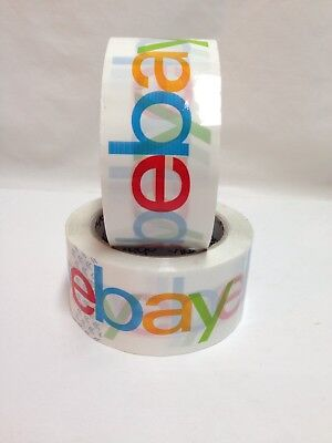 2 Discontinued Rolls Ebay Logo Packing Tape 2in X 75yds New From Bulk Package
