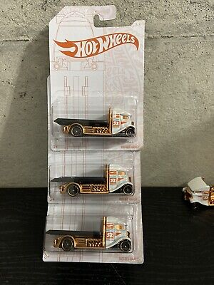 Hot Wheels 52 Pearl and Chrome FAST - BED HAULER 3 / 6, 52nd Edition Lot Of 3