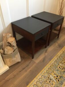 End / Side Tables in Charcoal and Mahogany