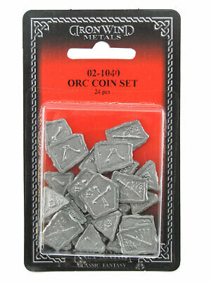 Orc Coins 1/4 lb ~24 Pieces 02-1040 Classic Ral Partha Fantasy RPG Accessory