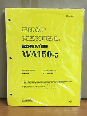 Komatsu Wa150-5 Wheel Loader Shop Service Repair Manual H50051 Up