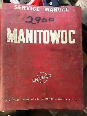 Manitowoc 2900wc Crawler Crane Attachments Shop Service Repair Manual Book