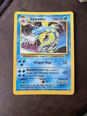 Gyrados Rare Holo Near Mint 6/102 Base Set Pokemon Card WOTC 1st gen 1999