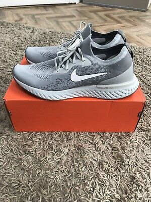 Nike Men's Epic React Flyknit Grey White US11 UK10 Immaculate / Boxed Vapormax