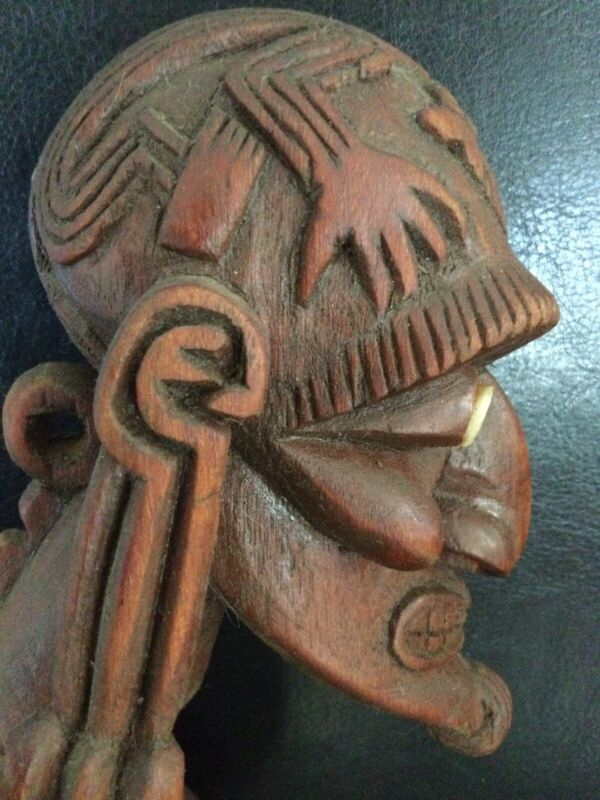 "Rare Toromiro 17"" Easter Island Moai Kavakava ancestral figure with Provenance!"