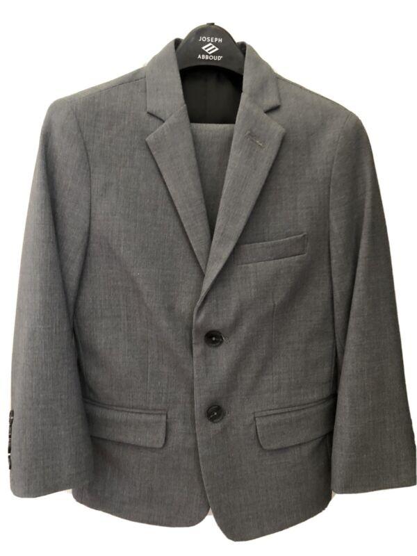 Boys Calvin Klein Solid Gray 2 Piece Suit Size 8