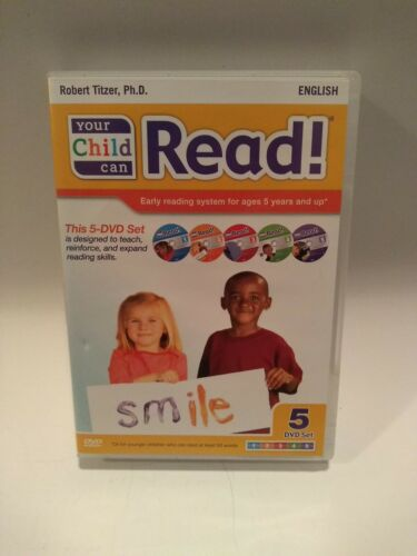 YOUR CHILD CAN READ! By ROBERT TIZER, Ph.D DVD SET EARLY READING SYSTEM AGE 3+
