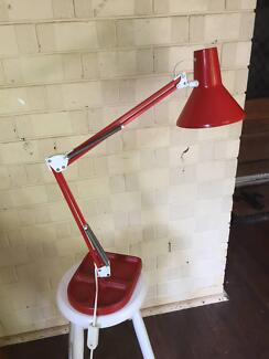 RETRO RED IKEA INDUSTRIAL LOOK LAMP - IRON BASE
