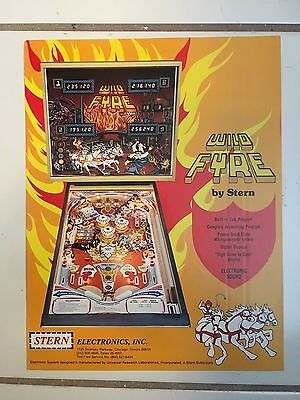 """""""WILD FYRE"""" BY STERN 1978  PINBALL  PROMO BROCHURE 1978 """"MINT"""" IN PLASTIC COVER"""