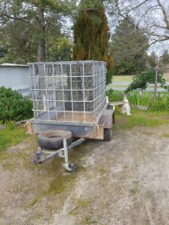 Trailer with steel cage, very good condition