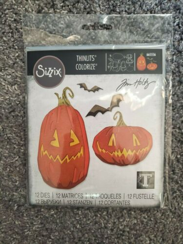 Sizzix Halloween Thinlits Dies, Pumpkin Patch Colorize