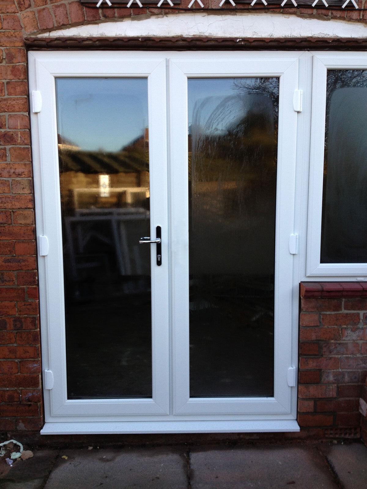 White upvc french doors white in stock picclick uk for White upvc french doors exterior