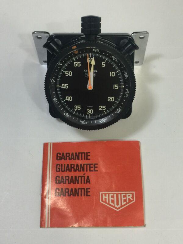 Rare Heuer Sebring Stopwatch Switzerland Circa 1960s, Mint Condition