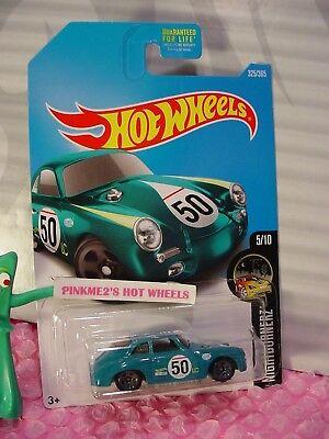 PORSCHE 356A OUTLAW #325✰teal green;50✰NIGHTBURNERZ✰2017 Hot Wheels case Q