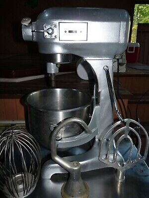 Hobart A200 20 Quart Commercial Bakery Dough Mixer Stainless Bowl 3 Attachments