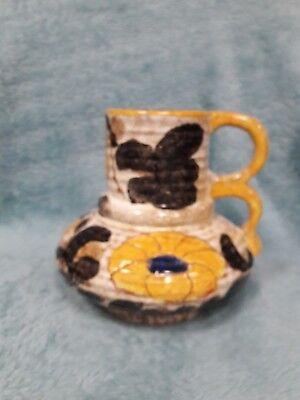 Vintage Art Deco: W. Germany; handled jug.