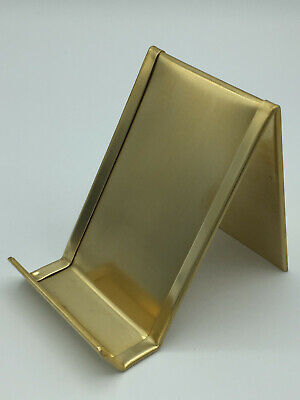Vertical Solid Brass Business Card Holder Made In Usa Anniversary Gift Desk