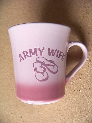 Army Wife pink ceramic mug coffee cup