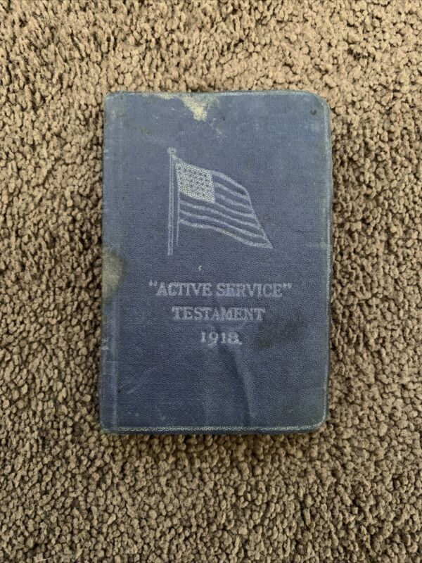 Original Vintage WW1 Active Service Testament 1918 Bible The New Testament