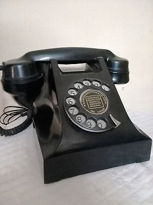 Antique Rotary Bakelite Telephone Working Condition Vintage Collectible Rare Pho
