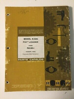 Ih International Hough 50c Front-end Wheel Pay Loader Tractor Parts Catalog List
