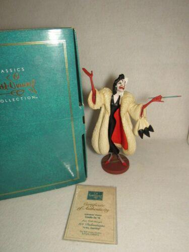Anita Daahling 1995 WDCC Disney Cruella De Vil 101 Dalmatians Members Only - MIB