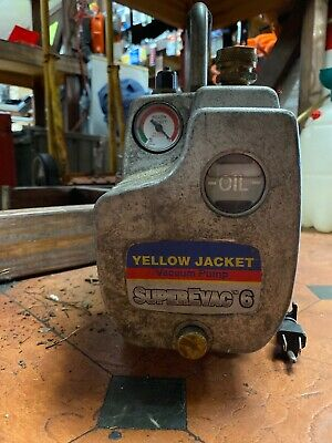 Yellow Jacket Superevac 93560 Two Stage 6 Cfm 115 Volt Vacuum Pump 12 Hp Usa