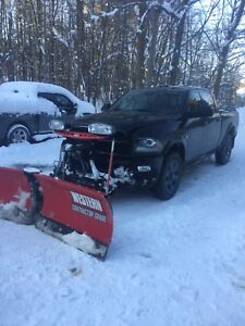 2015 dodge larimie crew cab diesel with western plow for sale