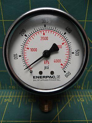 2 Enerpac 0-600 Psi 0-4000 Kpa Compound Pressure Gauge 14 Npt Lm